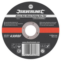 Silverline Metal Cutting Discs 115mm x 3mm x 22.2mm
