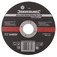 Silverline Metal Cutting and Slitting Discs 115mm x 1mm x 22.2mm