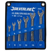 Silverline Open Ended Spanner Set 6mm - 17mm - 6 Piece
