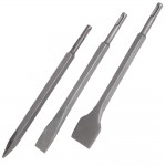 Silverline SDS Plus Chisel Set - 3 Piece