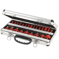 Silverline Router Cutter Set TCT 1/4in - 24 Piece