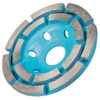 Silverline Concrete Grinding Diamond Disc Double Row 115mm