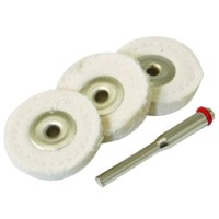 Silverline Loose Leaf Buffing Wheels - 3 Piece
