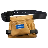 Silverline Leather Nail and Tool Pouch 8 Pocket