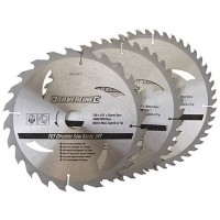Silverline Circular Saw Blades TCT 230mm - 3 Pack
