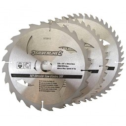 Silverline Circular Saw Blades TCT 235mm - 3 Pack