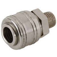 Silverline Euro Air Line 1/4in BSP Male Thread Quick Coupler