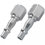 Silverline 1/4in Quick Release Female Bayonet Air line Fittings X 2