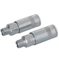 Silverline Quick Release 1/4in Male Thread Air Line Fittings X 2