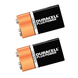 Duracell 9V Alkaline Batteries - 2 Pack
