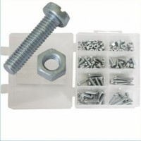 Silverline Mini Machine Screws and Nut Pack - 105 Piece