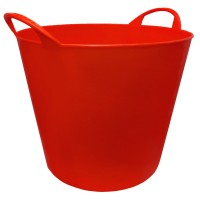 Airflow Heavy Duty Flexible Builders Bucket 26 Litre Red