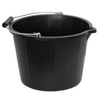 Black Builders Bucket 3 Gallon - 15 Litre