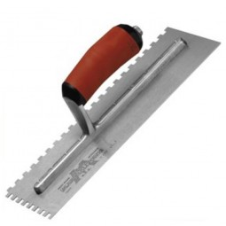 Marshalltown M710SD Durasoft Handle Square Notched Trowel 16in x 4in