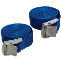 Silverline Cam Buckle Tie Down Straps 25mm x 2.5 Metres - 2 Pack