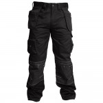 Apache Multi Pocket Work Trousers Black 40W 31L