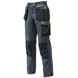 Apache Pro Twill Multi Pocket Work Trousers Grey Black