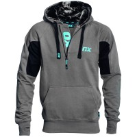 OX Workwear Hooded Top Grey and Black Small