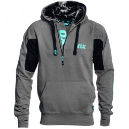 OX Workwear Hooded Top Grey and Black