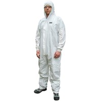 Scan Chemical Splash Resistant Disposable Coverall White Medium