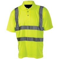 Silverline Hi-Viz Polo Shirt - Large