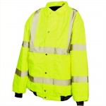 Silverline Hi-Viz Highway Bomber Jacket - Medium