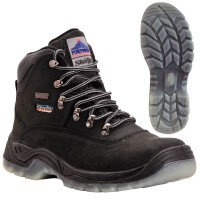 Portwest Steelite All Weather Safety Work Boots Black S3 UK 6 Euro 39