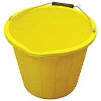 Builders Heavy Duty Yellow Bucket - 3 Gallon - 15 Litre