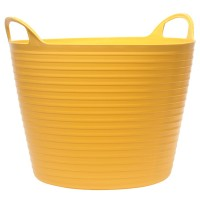 Faithfull Flexible Builders Bucket Tub Yellow - 15 Litres