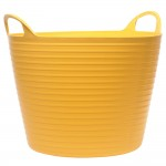 Faithfull Flexible Builders Bucket Tub Yellow - 28 Litres