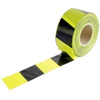 Faithfull Yellow and Black Barrier Tape 70mm x 500 Metres