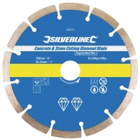 Silverline Diamond Blade Stone Concrete Cutting 150mm x 22mm