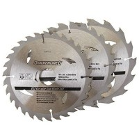 Silverline Circular Saw Blades TCT 165mm - 3 Pack