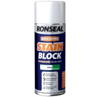 Ronseal Quick Drying Stain Block Spray Paint White Matt - 400ml