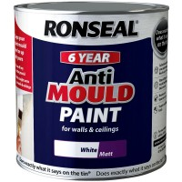 Ronseal 6 Year Anti Mould Paint White Matt 2.5 Litre