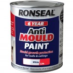 Ronseal 6 Year Anti Mould Paint White Silk 750ml
