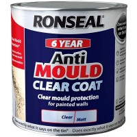 Ronseal 6 Year Anti Mould Clear Coat Matt - 2.5 Litre