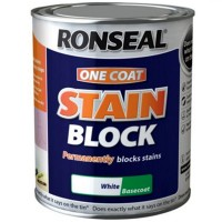 Ronseal One Coat Stain Block Paint White - 750ml