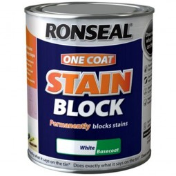 Ronseal One Coat Stain Block Paint White
