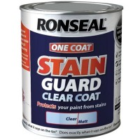 Ronseal One Coat Stain Guard Clear Matt - 750ml