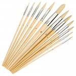 Silverline Pointed Tip Paint Brush Set - 12 Piece