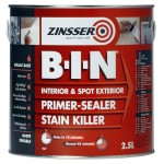 Zinsser BIN Primer Sealer and Stain Killer - 2.5 Litre