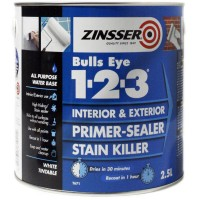 Zinsser Bulls Eye 1-2-3 Primer Sealer Stain Killer - 2.5L