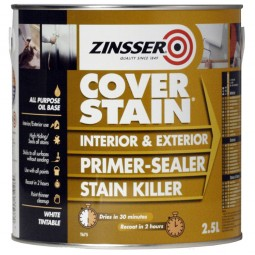 Zinsser Primer Cover Stain Interior and Exterior - 2.5 Litre