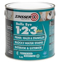 Zinsser Bulls Eye 1-2-3 Plus Primer Sealer Stain Killer - 2.5 Litres
