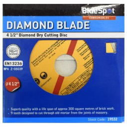 General Purpose Concrete and Stone Diamond Cutting Disc 115mm 4 1/2in