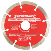 Silverline Diamond Blade Stone Concrete Cutting 115mm x 22mm
