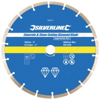 Silverline Diamond Blade Stone Concrete Cutting 230mm x 22mm