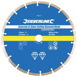 Silverline Diamond Blade Stone Concrete Cutting