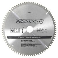 Silverline Circular Saw Blade TCT Aluminium and UPVC 250mm